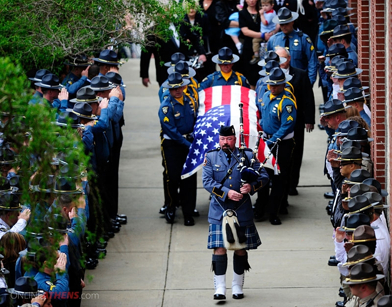 Chris Hayes: I'm 'Uncomfortable' Calling Fallen Military 'Heroes'-032711_officers_funeral_08_dm_w800_h627_onlineathens.jpg