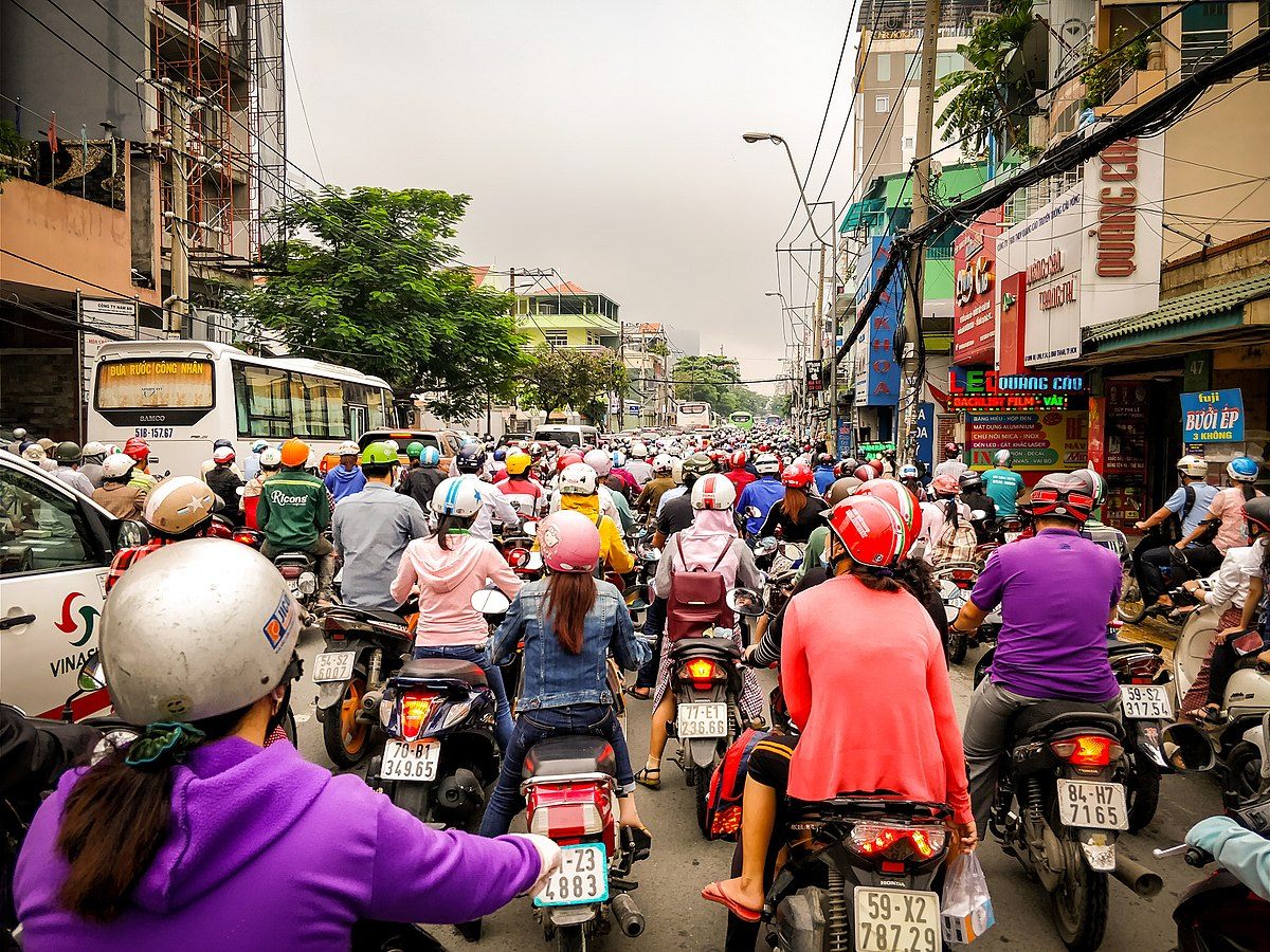 The Pedal Pushers (AKA-Bike Cyclists) are back in force-1200px-traffic_in_saigon_-244218359-.jpeg
