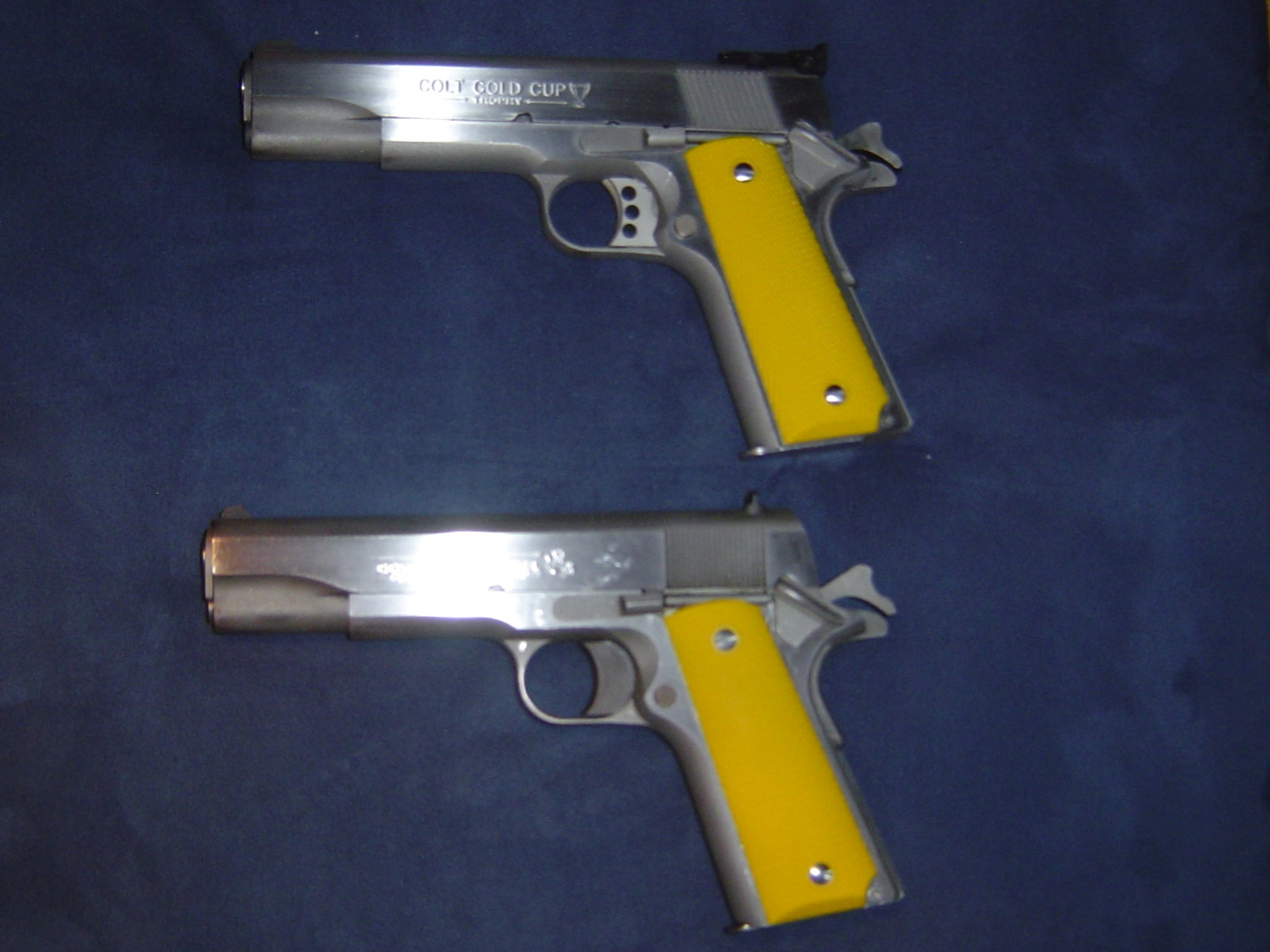 New grips on my competition 1911's.-1911-yellow-grips.jpg