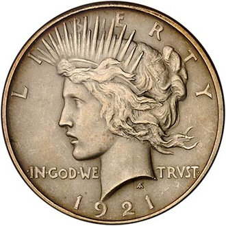 Anybody Else Here Been Buying The 1 Troy OZ .999 Silver ZOMBUCKS ???-1921_peace_dollar_obv.jpg