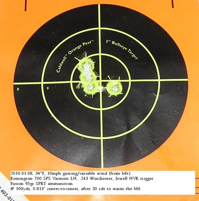 Jewell HVR LH trigger for Rem700 rifle: excellent!