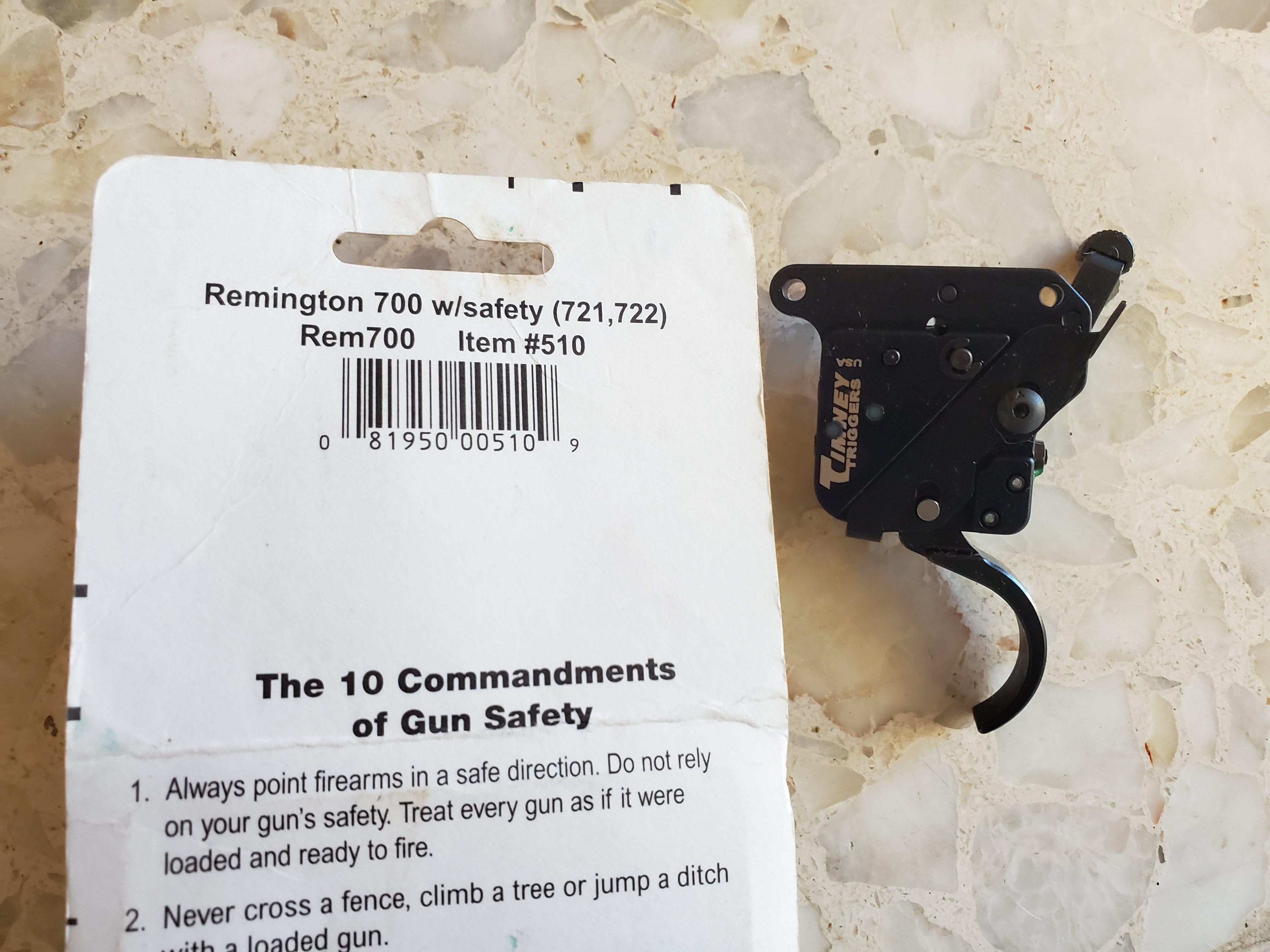 WTS:  NEW Timney Remington 700 #510 Trigger, 0 shipped-20190531_122132.jpg