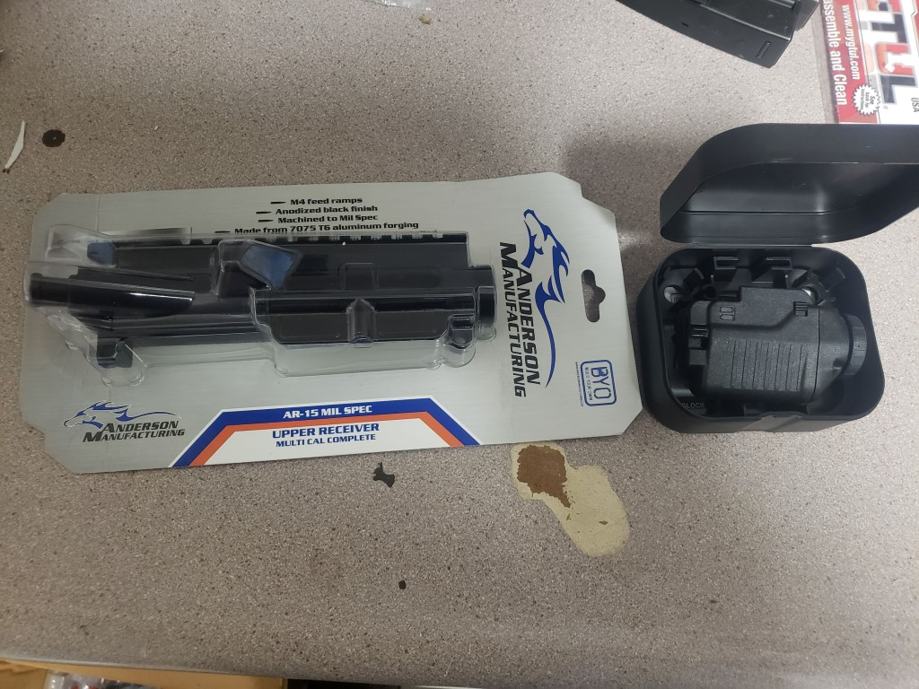 WTS stripped anderson upper and glock pistol light-20190614_171510.jpg