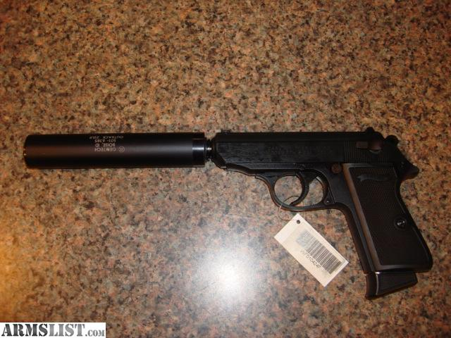 Real Walther PPK 22lr with PP threaded barrel