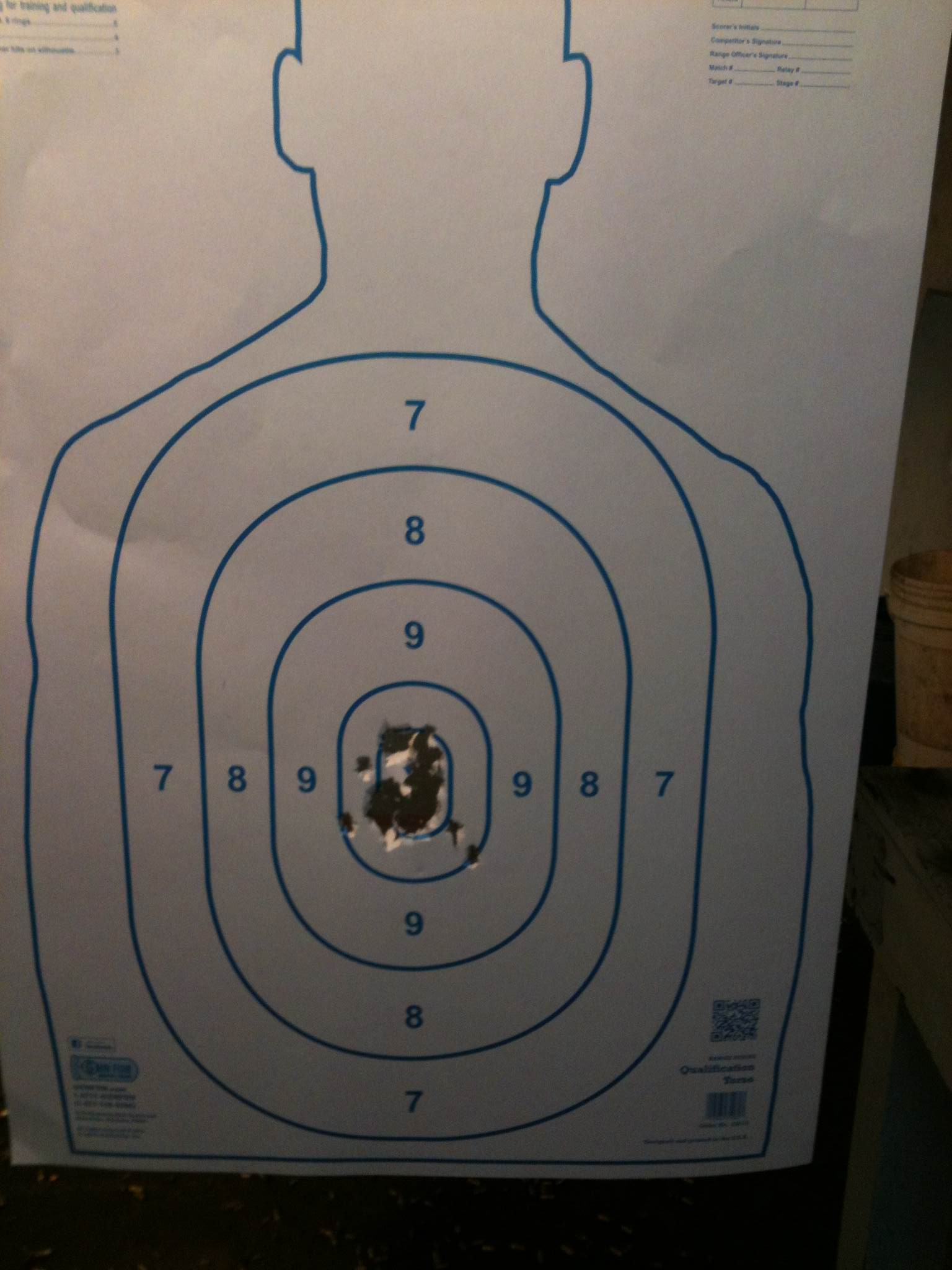 What is the most accurate handgun you have ever fired, fifteen yards and under?-35rounds-down-range.jpg