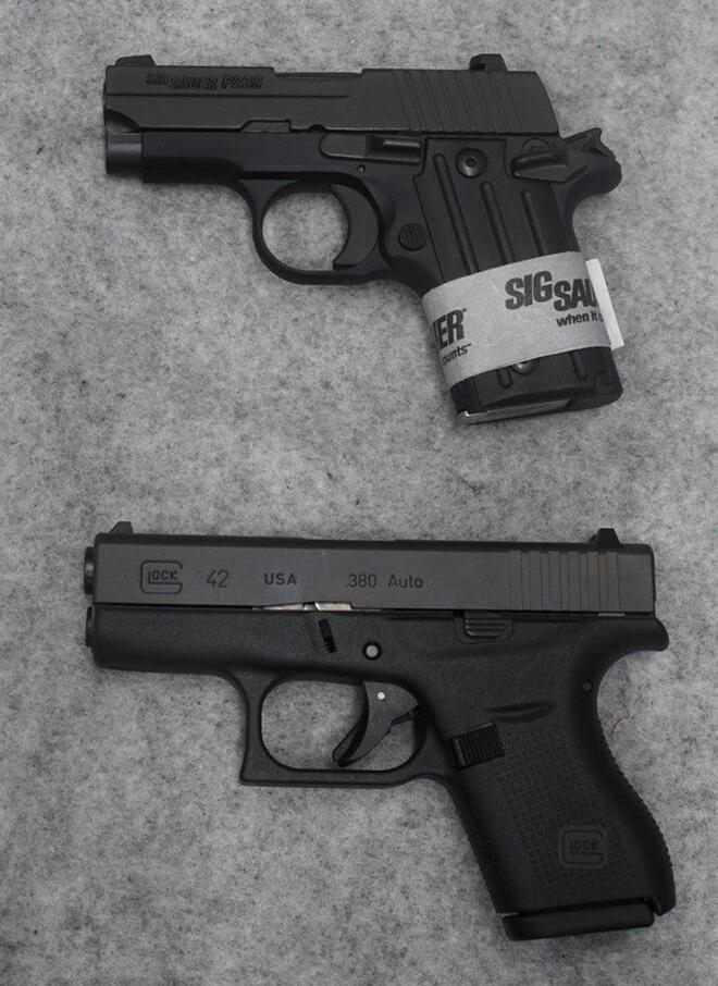 Glock 42 vs Sig P238