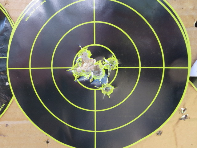 Range time with refinished race gun-8-15-offhand.jpg