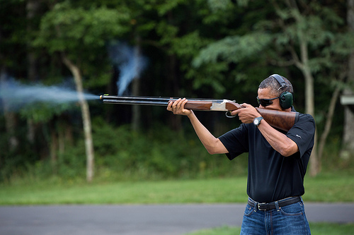 W.H. Releases Photo of Obama Shooting a Gun-8436110735_5ec05750a2.jpg