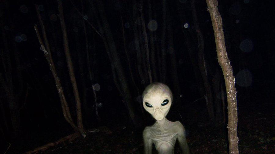 Alone in a pitch black park-alien_in_the_woods_by_thyrring.jpg
