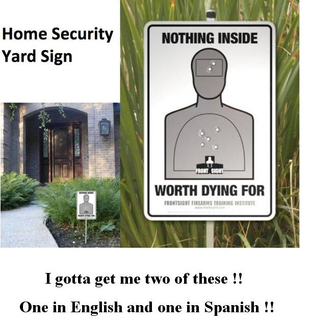 Home Security Yard Sign