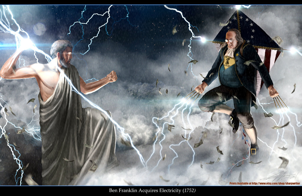 For Your Pure Enjoyment...-ben_franklin_vs__zeus_by_sharpwriter-d4hjp6a.jpg