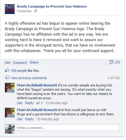 This Brady Campaign Poster Hates You and Blames You........-brady-facebook.jpg