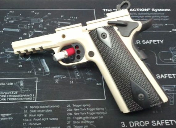 DuraCoat Work: Beretta PX4 Storm in Hot Pink and Colt 1911 Frame in Desert DPM Tan!!!-colt1911-frameonly-desertdpmtan.jpg