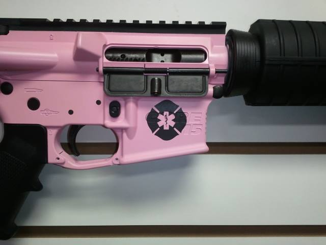 DuraCoat Work: Core-15 AR-15 in pink lady with a custom touch!-core15-singlecolor-pinklady-stencil-223.jpg