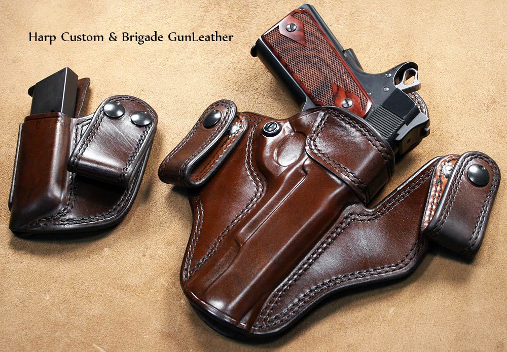 Brigade Custom Leather Holsters with Tactical Light-custom-1911-pistol-custom-holster-2.jpg