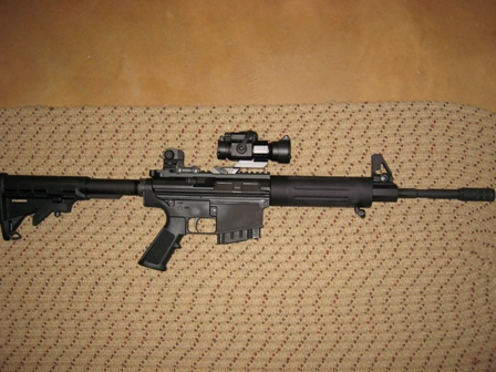 "New DPMS. Her name is  ""DV"" (Devestation)-dv.jpg"