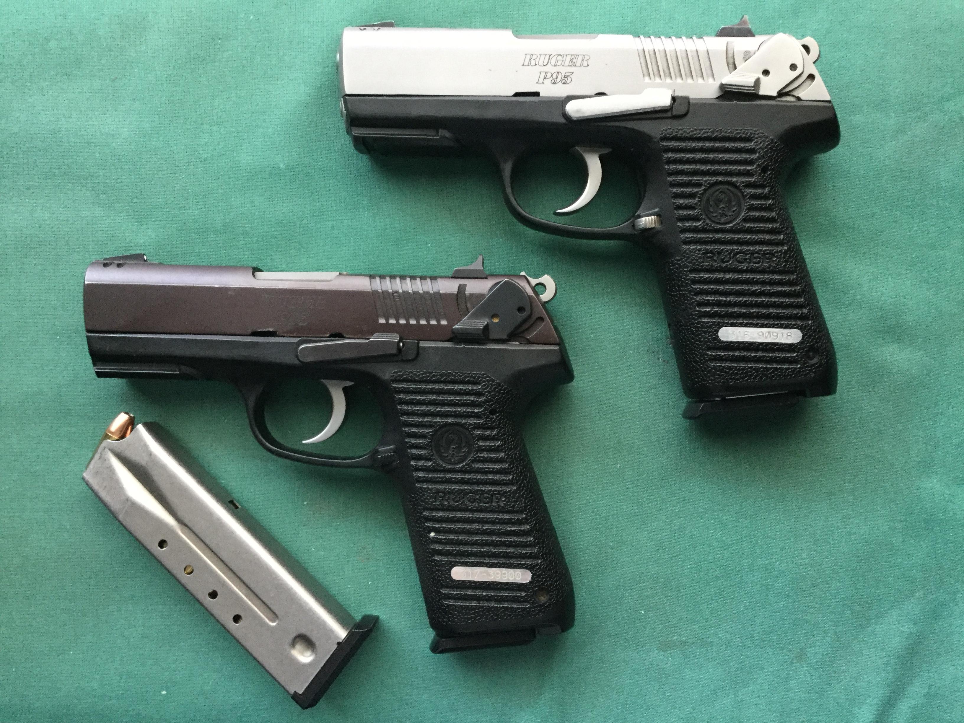 WTS D/FW area, (2) Ruger P95's, $185 ea, 9mm, 15+1 DA/SA