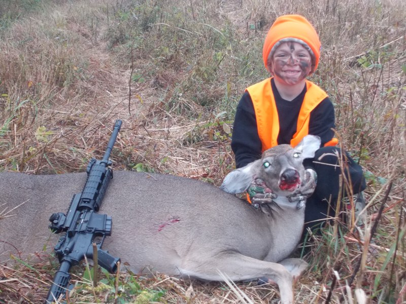 What do you use your AR-15 for?-first-deer.jpg