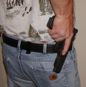Carrying the G34 with SureFire X300 in a modified DSG Arms Alpha holster...-g34gunout.jpg