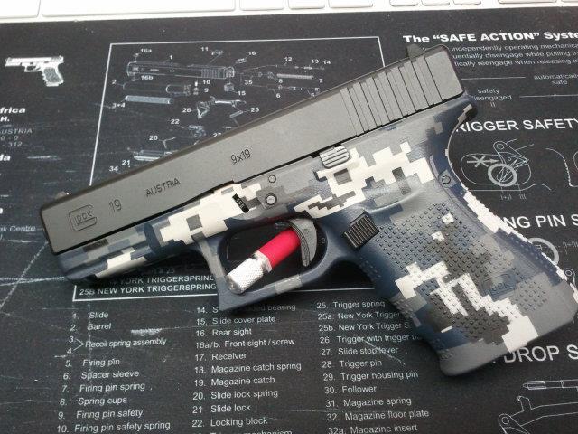 DuraCoat Work: Glock Gen4 frame coated in Digital Navy NWU-glock19digitalframe.jpg
