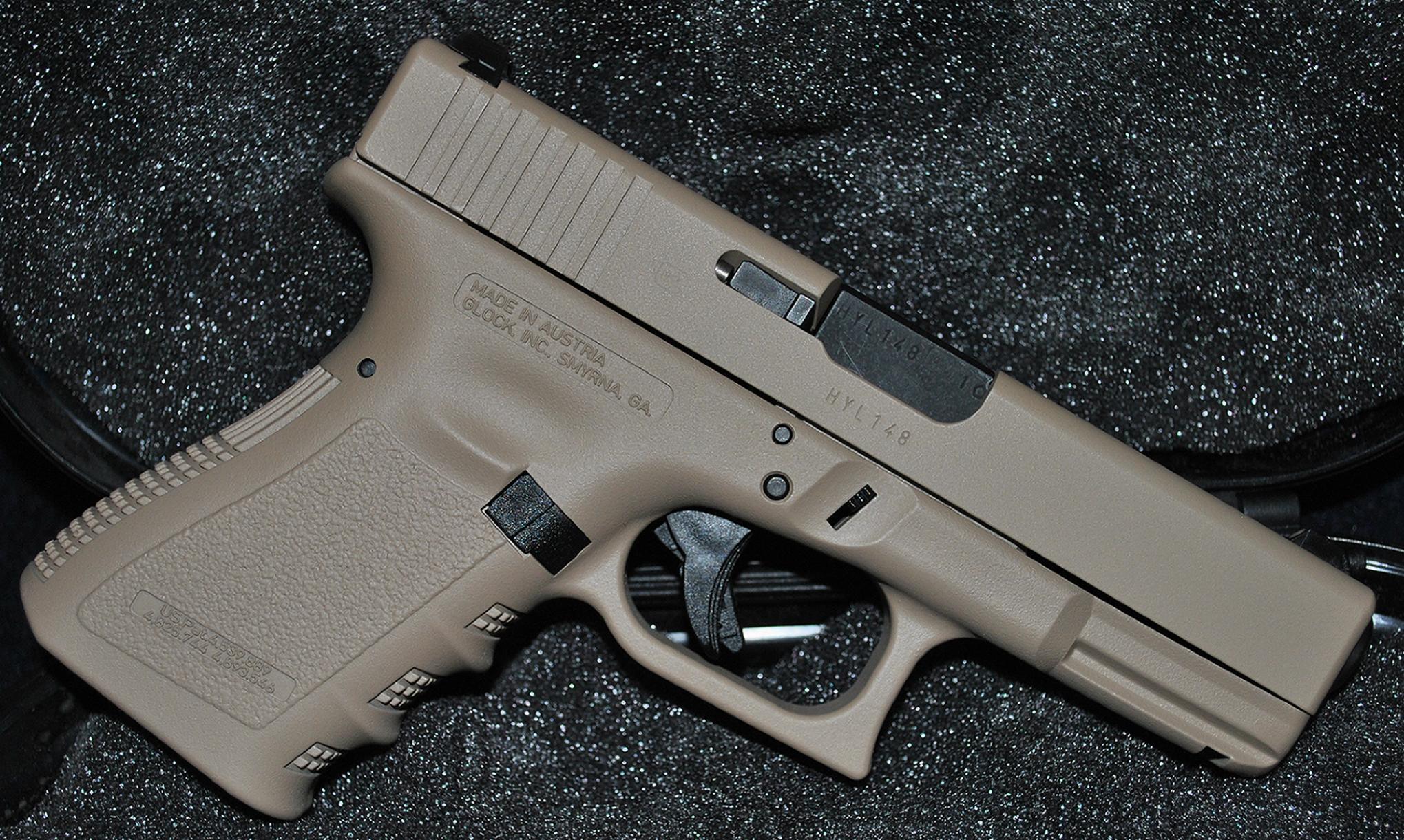 DuraCoated Glocks and RIA Shotgun for Sale!-glock19wholewoodlandtan.jpg
