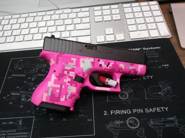 DuraCoat Work: Glock 26 Gen3 with Frame in triple pink digital camo with SS accents-glock26gen3-frameonlydigitalcamo-bronxrose-pinklady-hoguepink-ssaccents.jpg