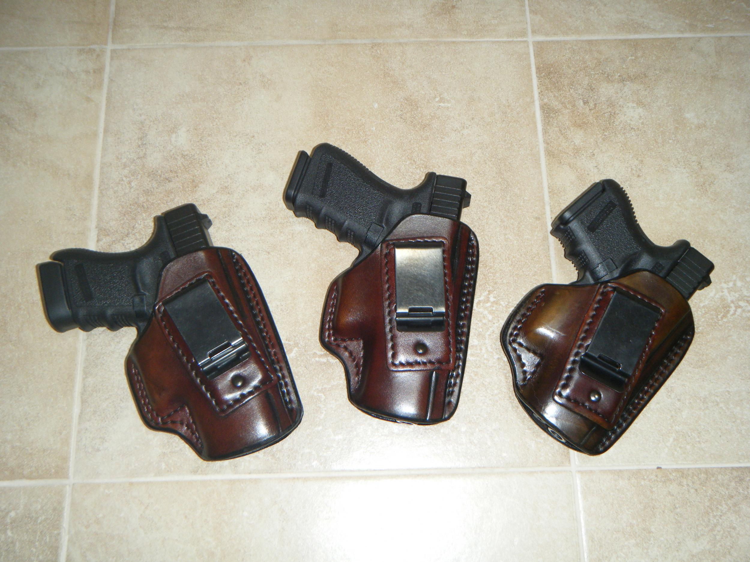 Fist leather holsters