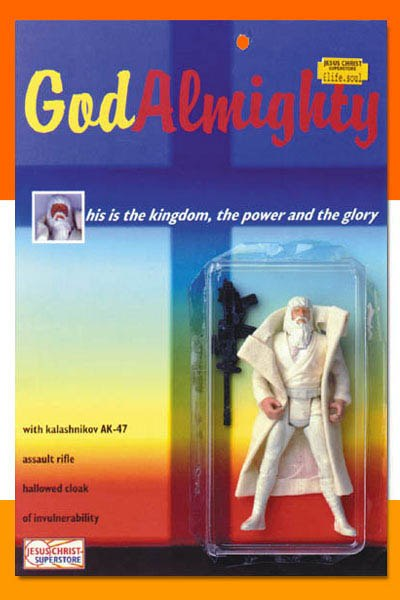 Proof that God prefers the AK-47 (just kidding, but funny). Weird toy action figure.-godalmighty.jpg