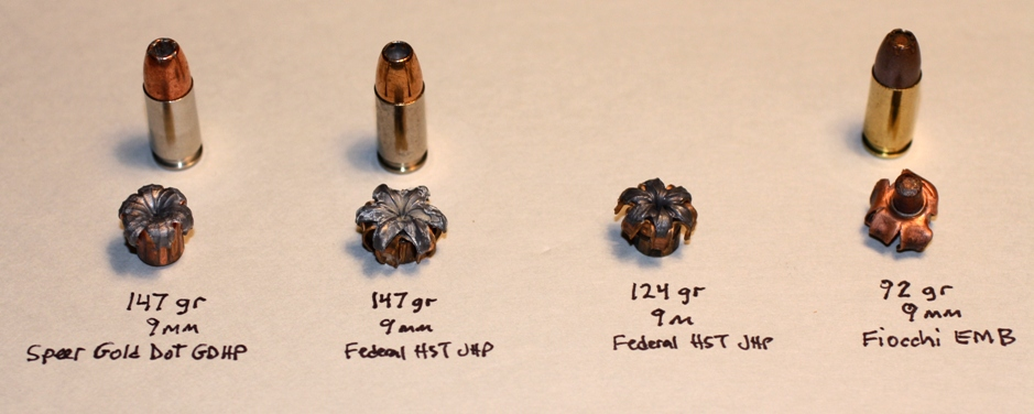 Test of Gold Dot, Federal HSTs, and Fiocchi EMB Ammo