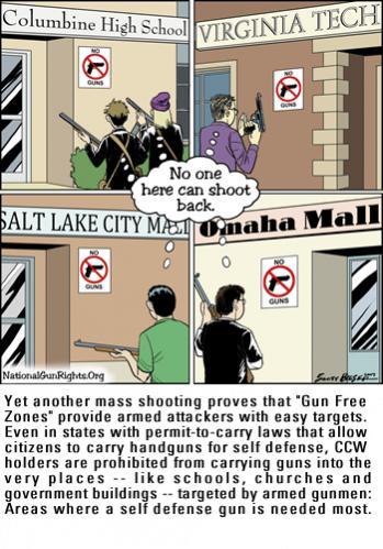 Breaking News, My Area: Gunman holds principal hostage at school in N.Y.-gun-free-zone-caption.jpg