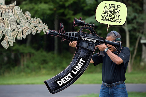 W.H. Releases Photo of Obama Shooting a Gun-high-cap-debt-clip-caption.jpg