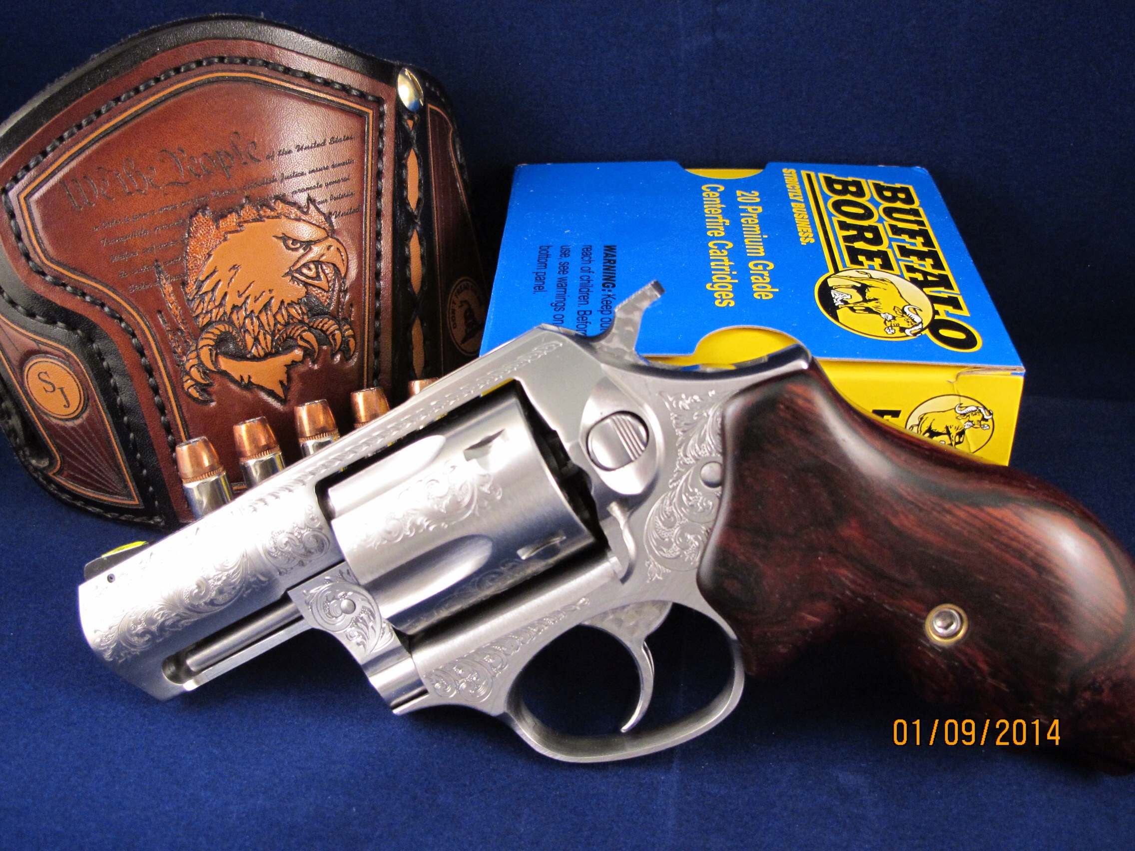 Who carries a 357 snub nose revolver loaded with 38 Special