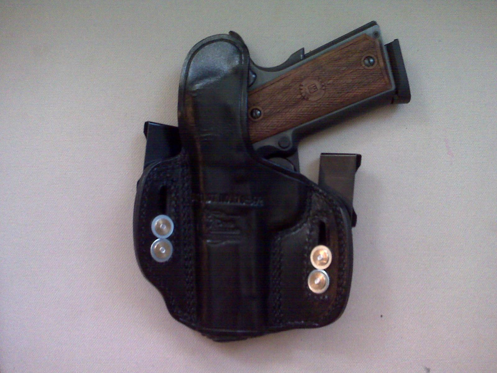 Don Hume 721 open top OWB holster + Galco King Tuck = THIS