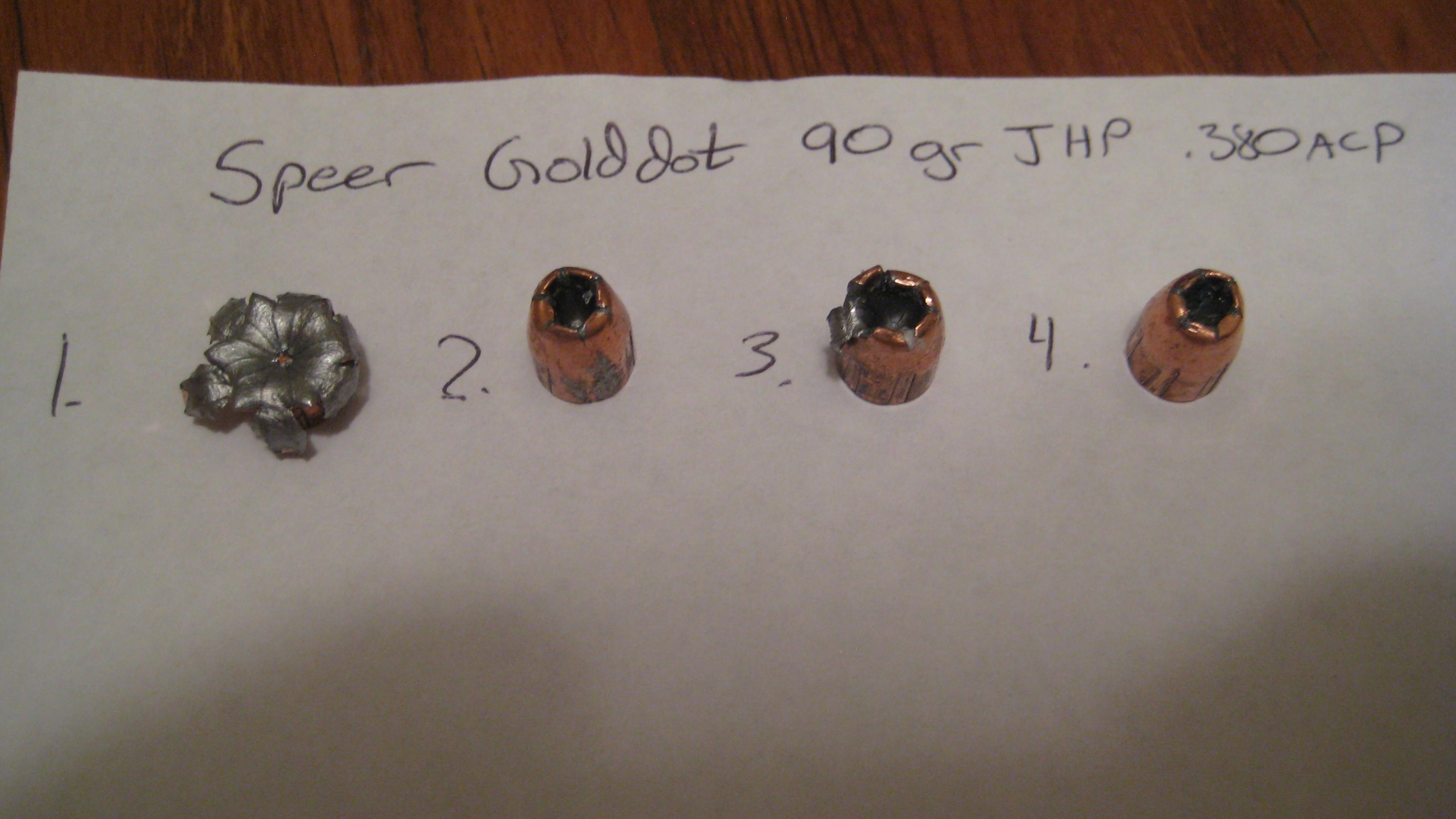 federal hydra shok vs speer gold dot