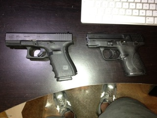 M&P 9 Shield - side by side with Glock 19-img_0764.jpg