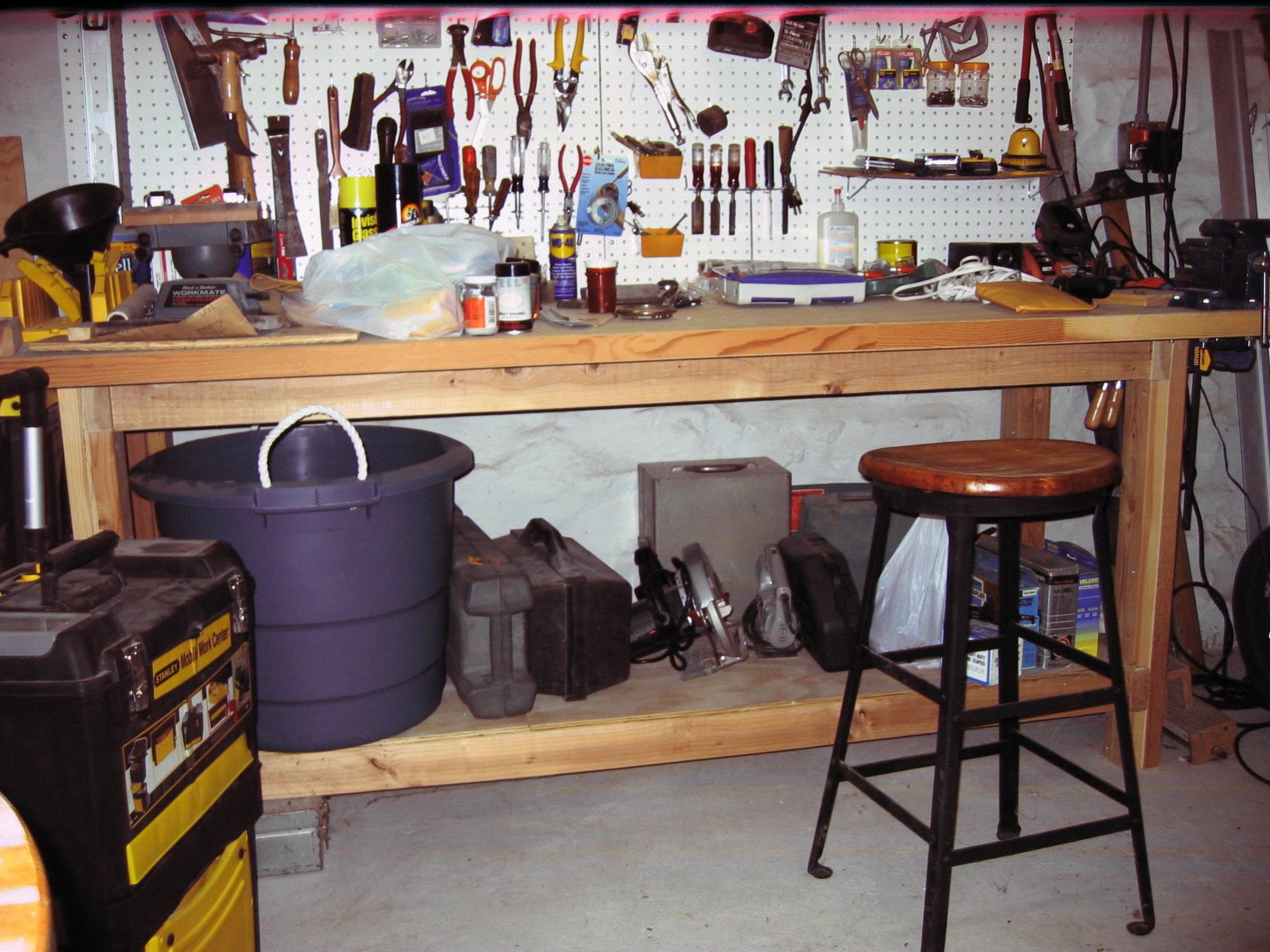 folding garage table in inside cozy captivating counter tall intended neriumgb height jpg workbench prepare work bench decorating for new