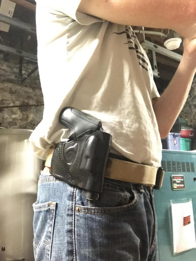 OWB holster for range training with Ruger LCR