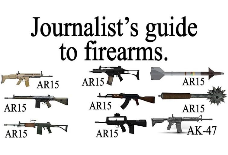 TV report mistakes a pump shotgun for an AR-15-journalistsguide.jpg