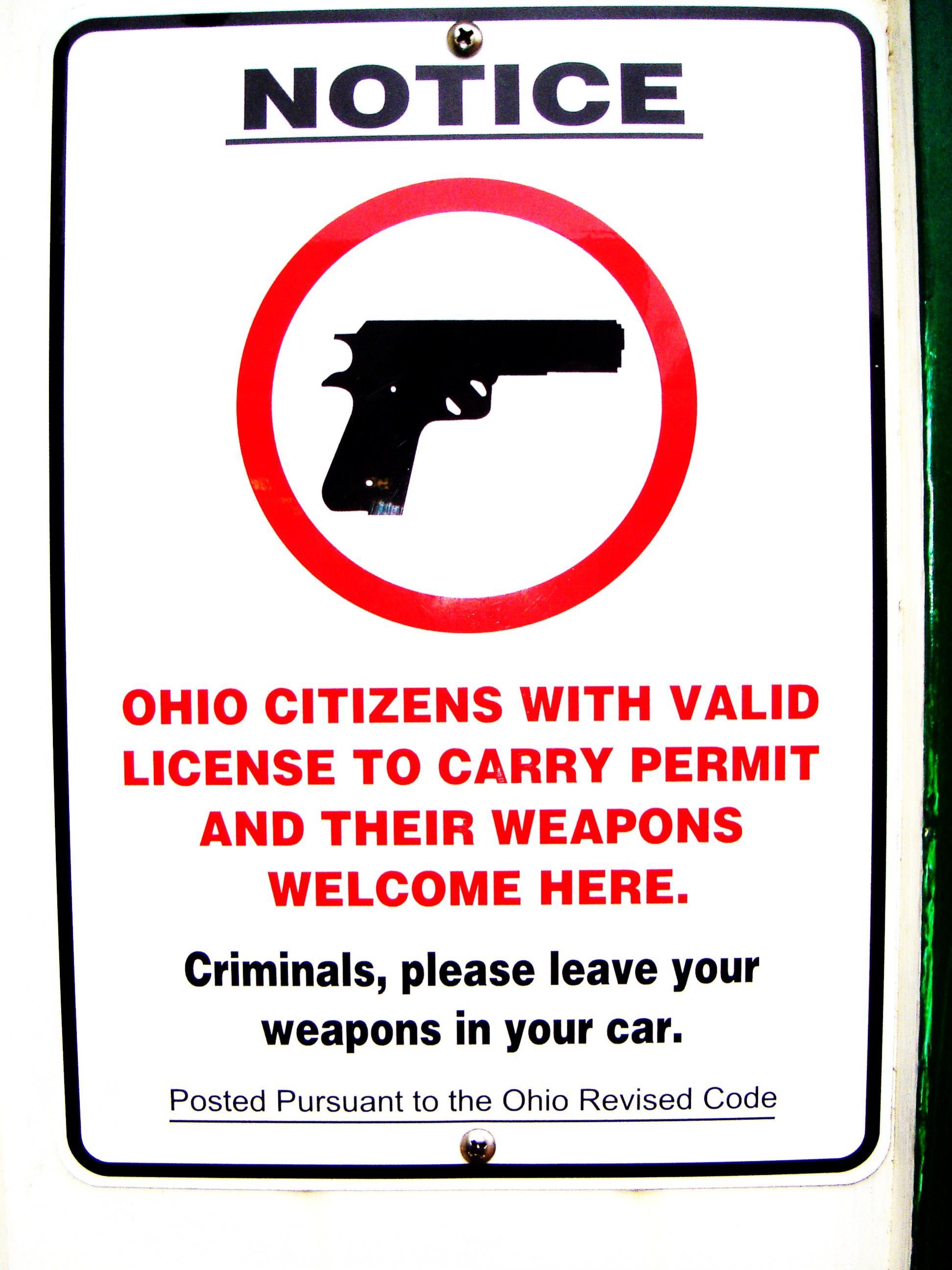 """Did Forza Coffee Shop have a gun-ban door sign?""-kathys-kitchen-gun-notice-tues.-2-10-09.jpg"