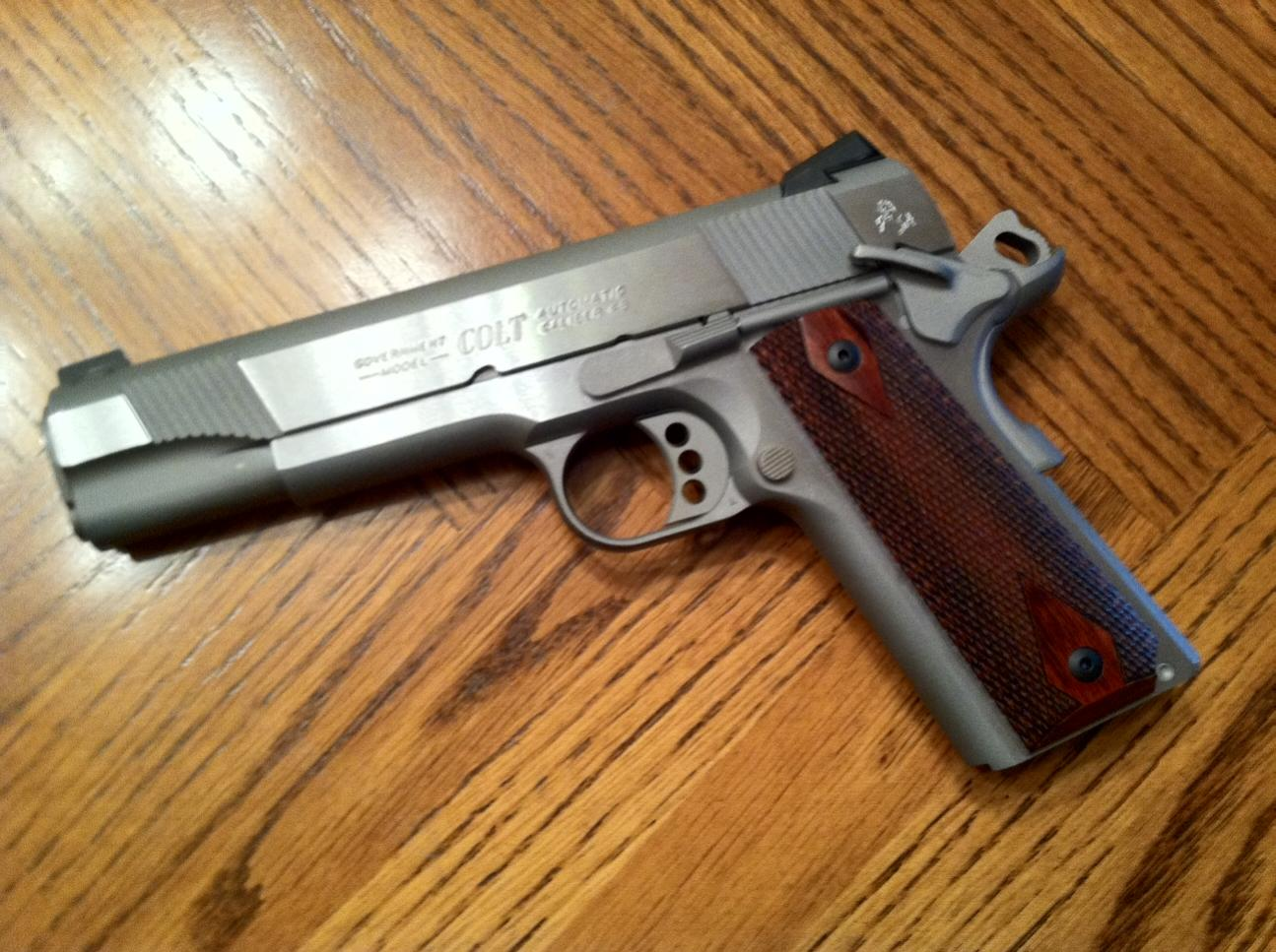Colt 1911 stainless care
