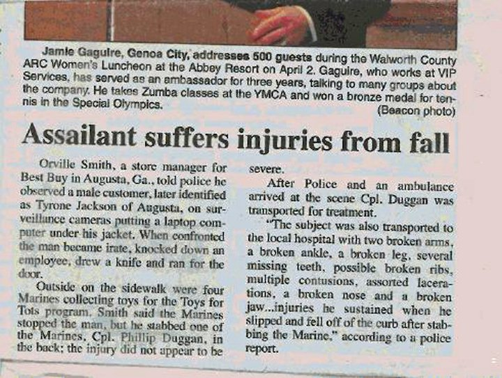 Assailant suffers injuries from fall-marines.jpg