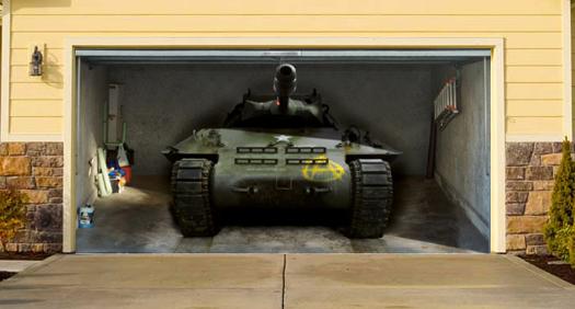 Top 11 most dangerous cities and gun control laws-military-tank-garage-door-mural.jpg