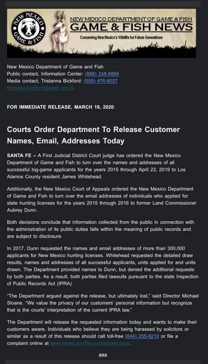Court orders New Mexico DGF release personal info on successful big game applicants-new-mexico.jpg
