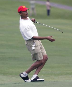 Mag Pushes Fake Picture of Obama Skeet Shooting-obama-golf-3.jpg