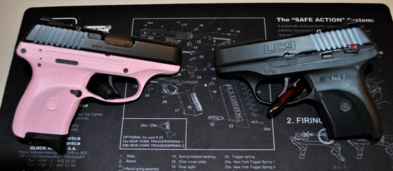 For Sale: NIB Ruger LC9 DuraCoated in pink lady-rugercomparisonpinkblacksmall.jpg