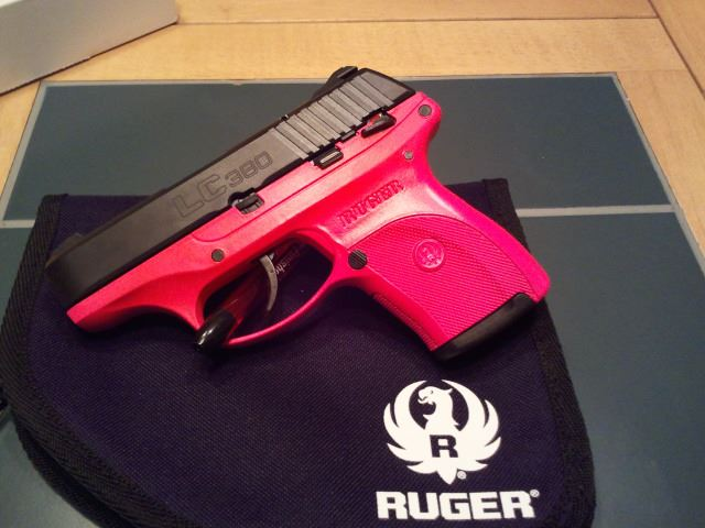 In Stock: Ruger LCP (no crimson trace) and LC9 (with Crimson Trace), pink options!-rugerlc380-singlecoat-frame-hotpink.jpg