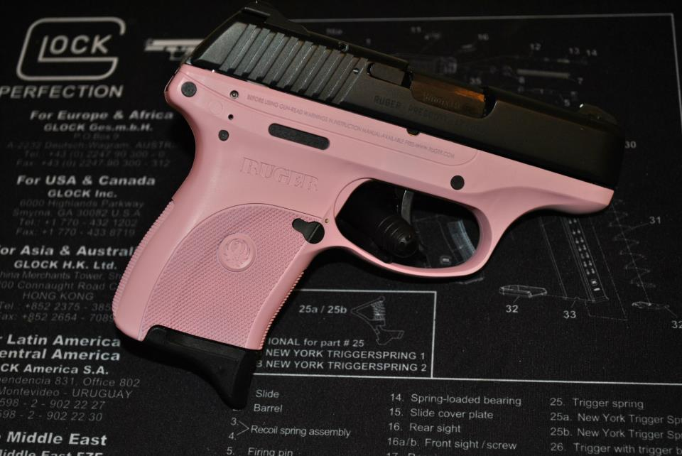 For Sale: Daily Deal - Ruger LC9 with Laser Max laser -pink, od green, FDE available-rugerlc9-singlecoat-frame-pinklady.jpg