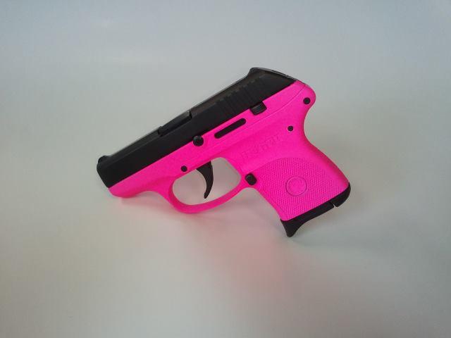 DuraCoat Work: Hot Pink Ruger LCP, Desert DPM Tan G27 Gen3, Zebra Stripe G17 Gen3-rugerlcp-frameonly-hotpink.jpg