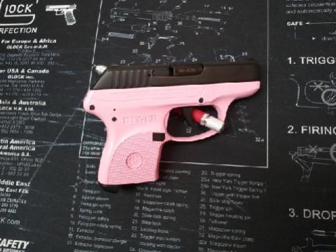 Pink Guns For Sale: Hot Pink Glock 27 Gen3, Hot Pink Glock 26 Gen3, Pink Ruger LCP-rugerlcp380-frameonly-pinklady.jpg