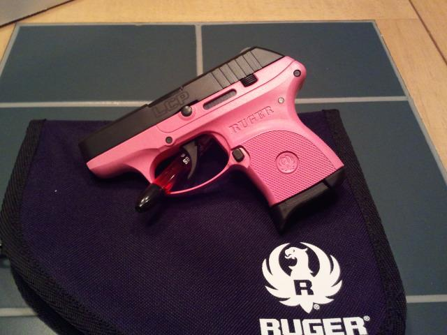 In Stock: Ruger LCP (no crimson trace) and LC9 (with Crimson Trace), pink options!-rugerlcp380-singlecoatframe-larslarsoncommipinko.jpg